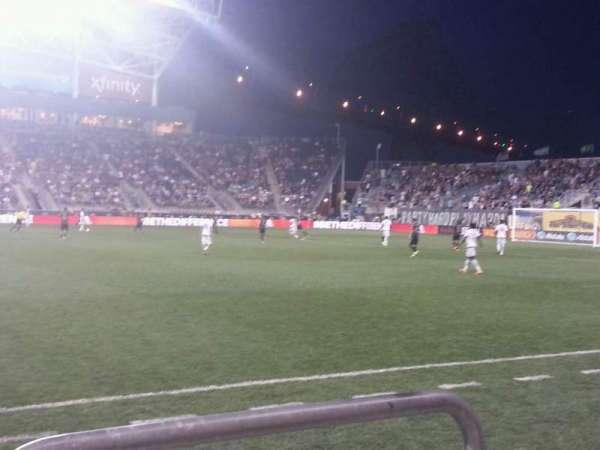 Talen Energy Stadium, section: 106, row: a