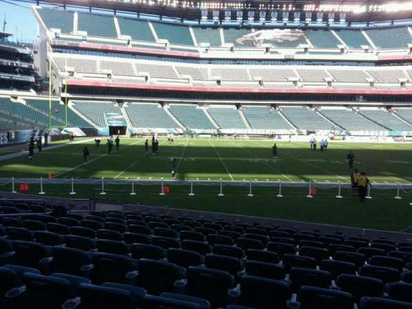 Lincoln Financial Field, section: 136, row: 11, seat: 10