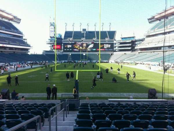 Lincoln Financial Field, section: 111, row: 11, seat: 32