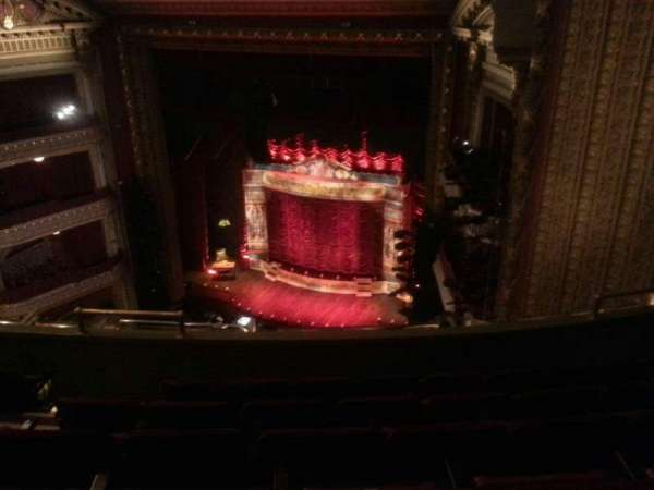 CIBC Theatre, section: Balcony R, row: F, seat: 12