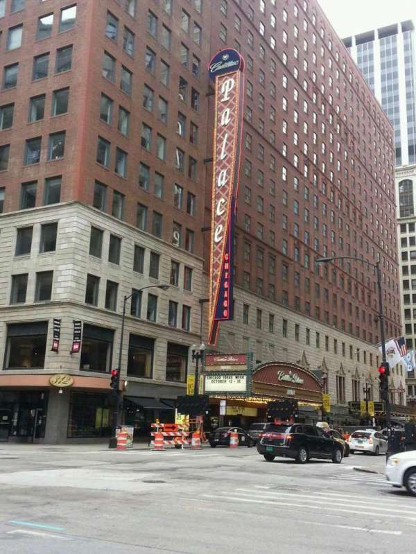 Cadillac Palace Theater, section: outside