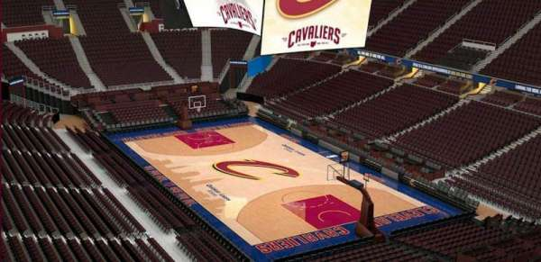 Quicken Loans Arena, section: 214, row: 3