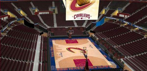 Quicken Loans Arena, section: 216, row: 3