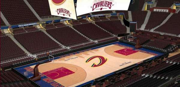 Quicken Loans Arena, section: 222, row: 3