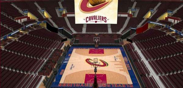 Quicken Loans Arena, section: 200, row: 3