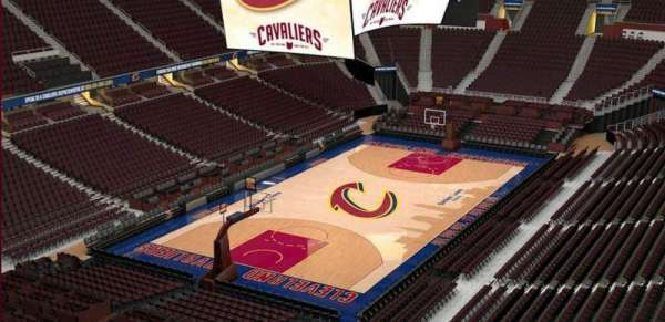 Quicken Loans Arena, section: 203, row: 3