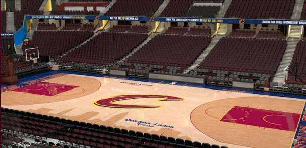 Quicken Loans Arena, section: C110, row: 20