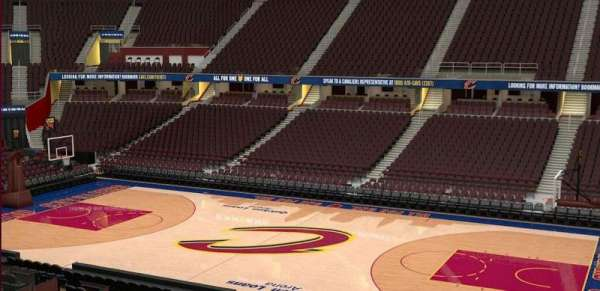 Quicken Loans Arena, section: C127, row: 20