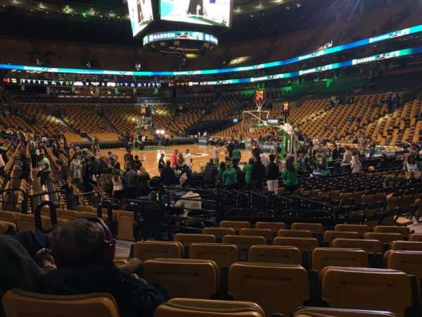 TD Garden, section: Loge 8, row: 8, seat: 3