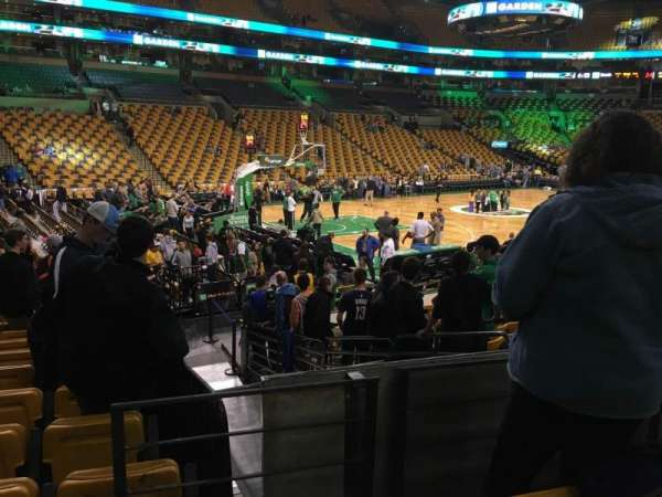 TD Garden, section: Loge 4, row: 13, seat: 6