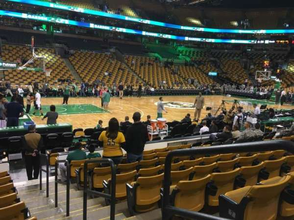 TD Garden, section: Loge 3, row: 9, seat: 1