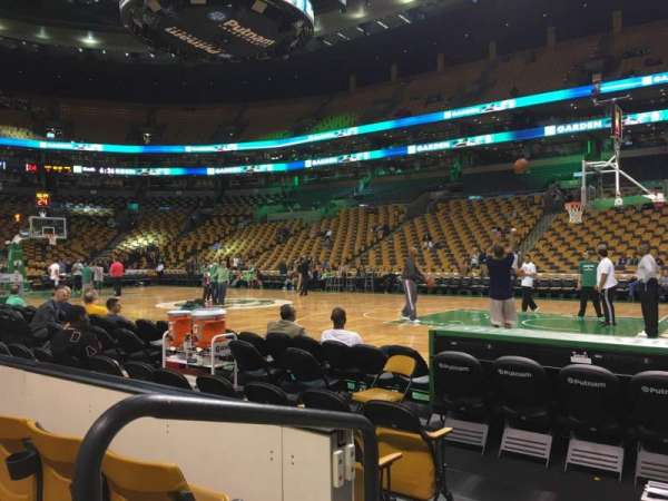TD Garden, section: Loge 21, row: 3, seat: 12