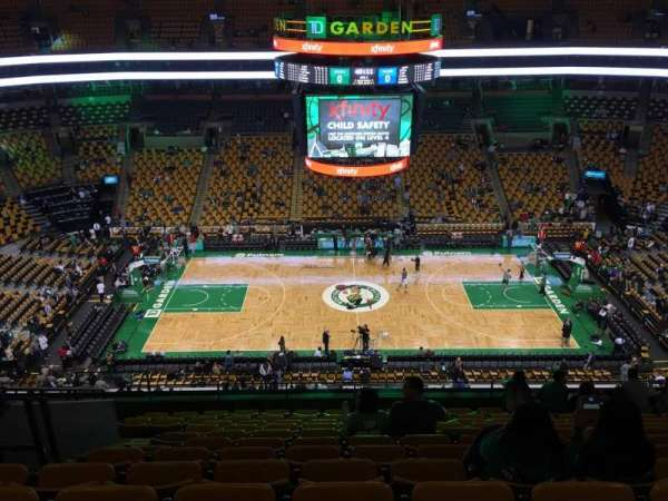 TD Garden, section: Bal 316, row: 12, seat: 13