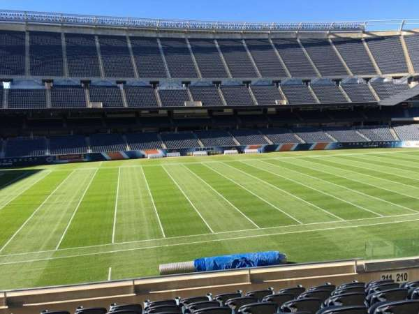Soldier Field, section: 211, row: 8, seat: 10