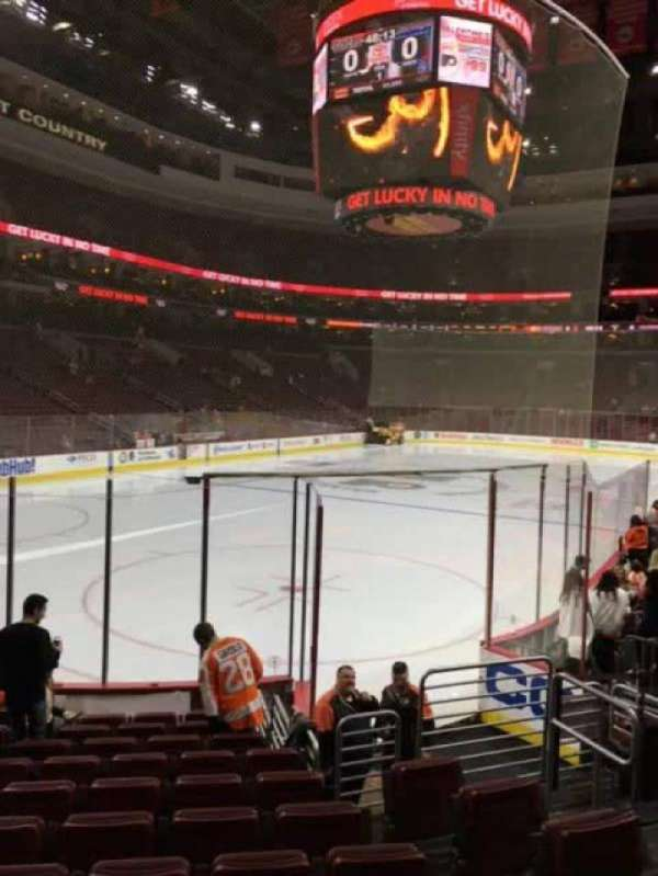 Wells Fargo Center, section: 121, row: 11, seat: 9