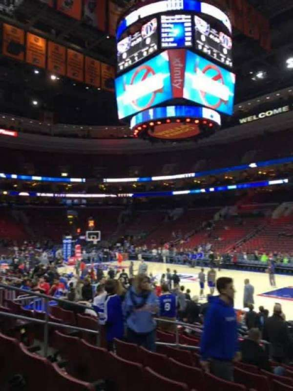 Wells Fargo Center, section: 103, row: 11, seat: 8
