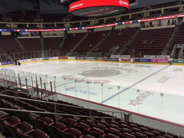 Giant Center, section: 108, row: K, seat: 1