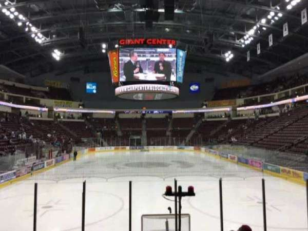 Giant Center, section: 126, row: J, seat: 1