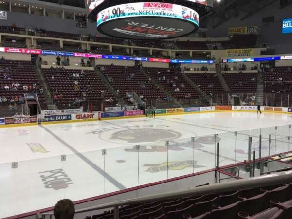 Giant Center, section: 106, row: J, seat: 2