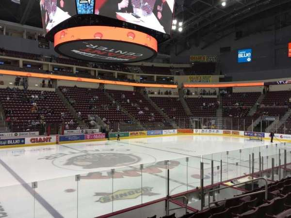 Giant Center, section: 107, row: J, seat: 10