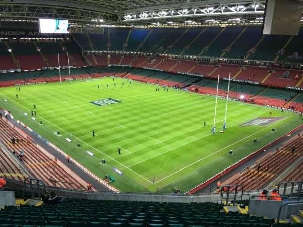 Principality Stadium, section: U24, row: 20, seat: 18