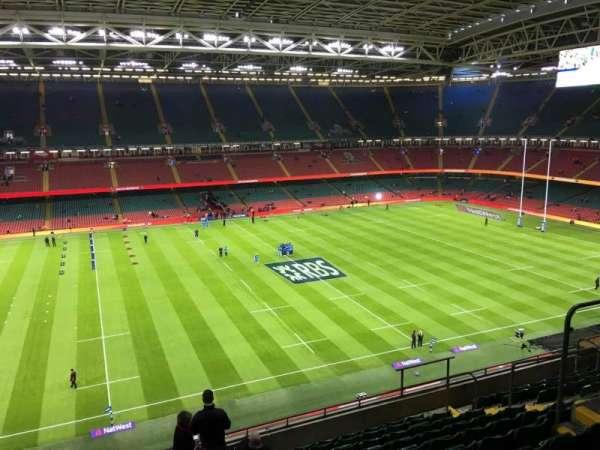 Principality Stadium, section: U32, row: 11, seat: 13