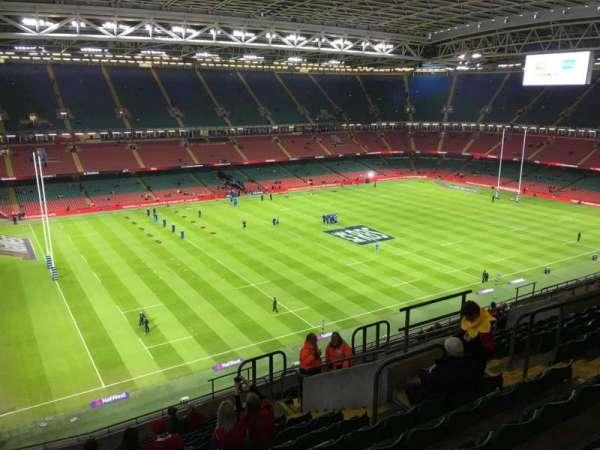 Principality Stadium, section: U34, row: 17, seat: 22