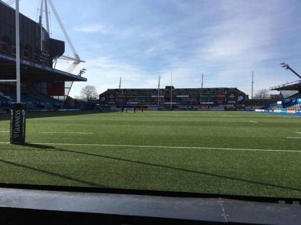 Cardiff Arms Park, section: 17, row: A, seat: 6