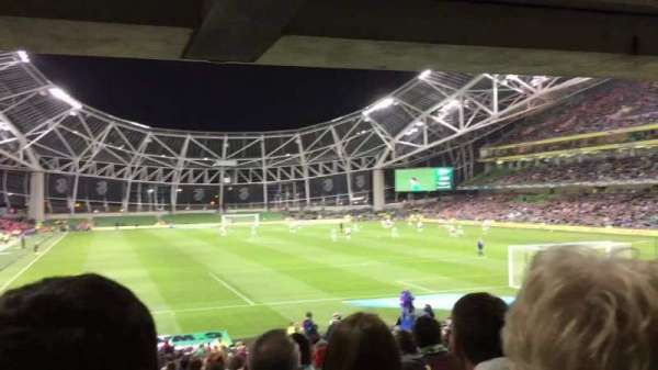 Aviva Stadium, section: 116, row: Ee, seat: 23