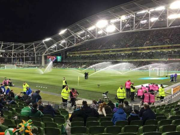 Aviva Stadium, section: 119, row: P, seat: 23