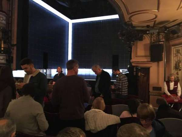 Gielgud Theatre, section: Stalls, row: M, seat: 1