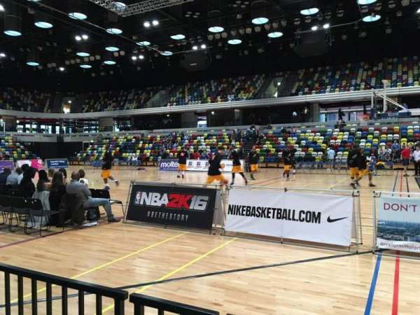 Copper Box Arena, section: 110, row: 2, seat: 52