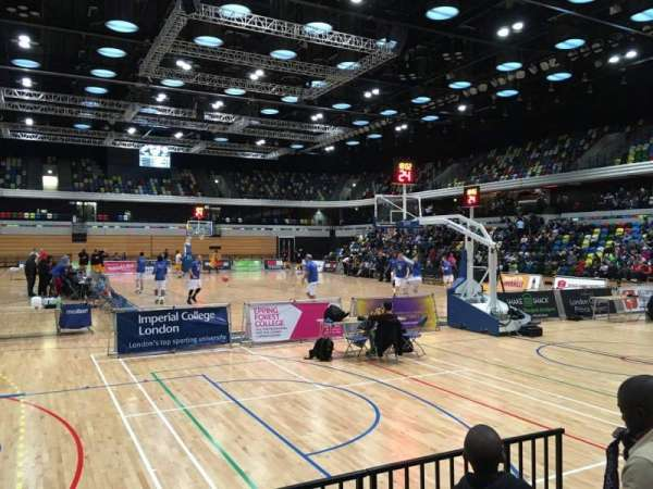Copper Box Arena, section: 101, row: 4, seat: 76