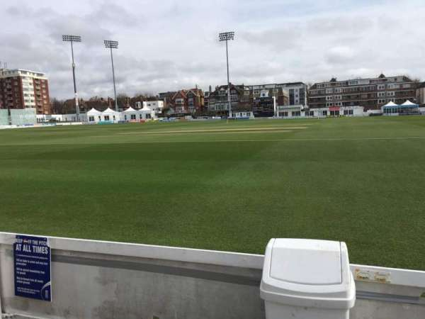 County Cricket Ground (Hove), section: Grand Stand, row: A, seat: 7