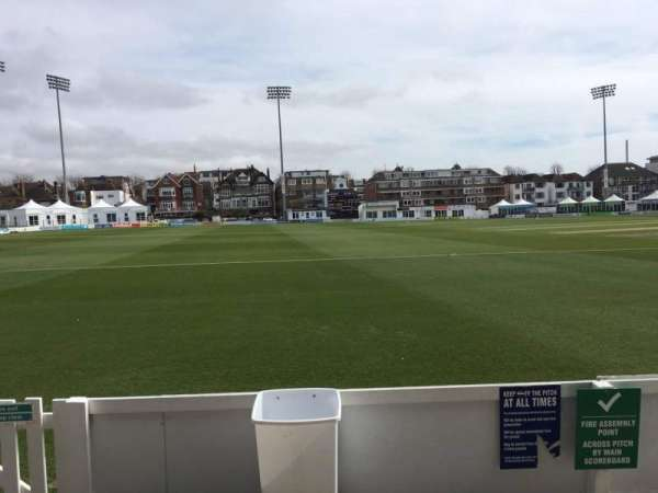 County Cricket Ground (Hove), section: Grandstand F, row: B, seat: 84