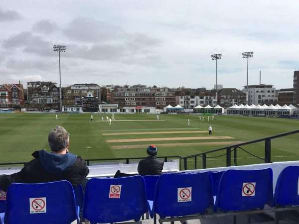 County Cricket Ground (Hove), section: Upper Grandstand J, row: Bench