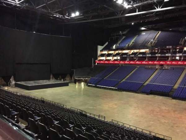 The O2 Arena, section: The Deck, row: 1, seat: 30