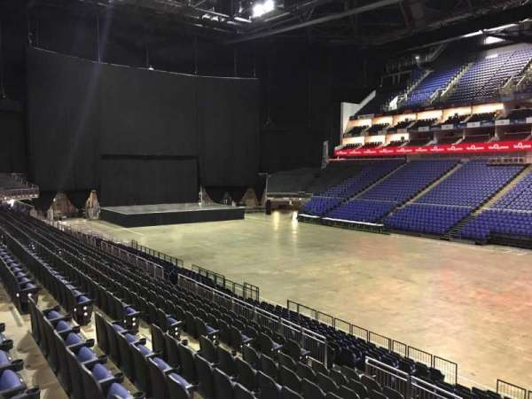 The O2 Arena, section: 104, row: T, seat: 124
