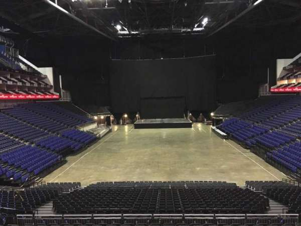The O2 Arena, section: The Deck, row: 1, seat: 56