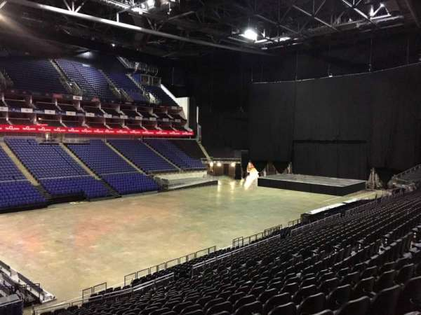 The O2 Arena, section: The Deck, row: 1, seat: 70