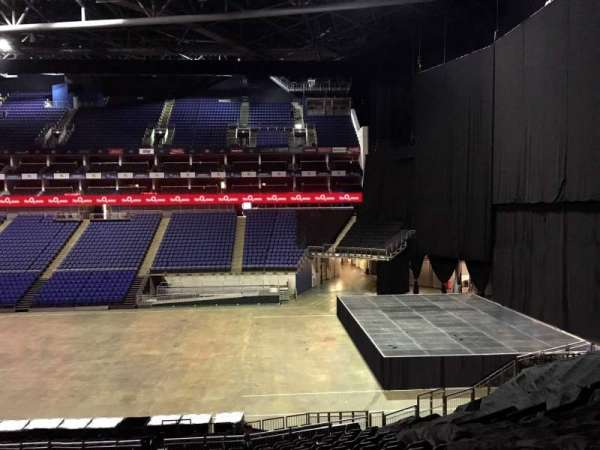 The O2 Arena, section: The Deck, row: 1, seat: 92