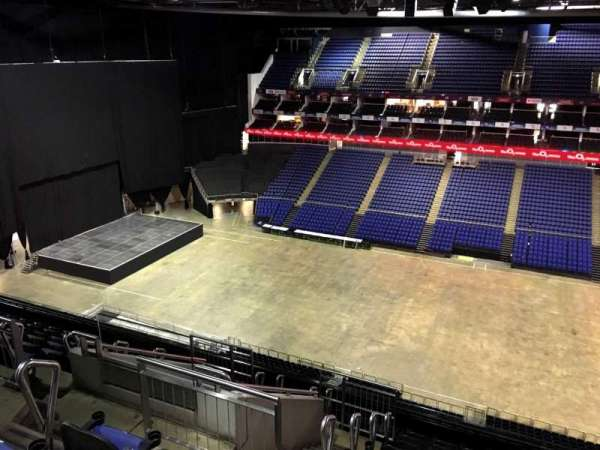 The O2 Arena, section: 404, row: L, seat: 544
