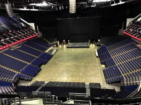 The O2 Arena, section: 412, row: L, seat: 736