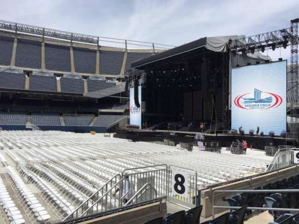 Soldier Field, section: 106, row: 5, seat: 10