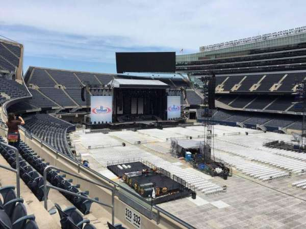 Soldier Field, section: 332, row: 3, seat: 8
