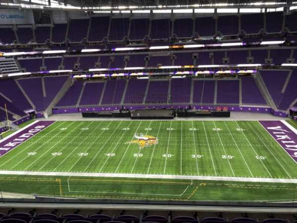 U.S. Bank Stadium, section: 340, row: E, seat: 21