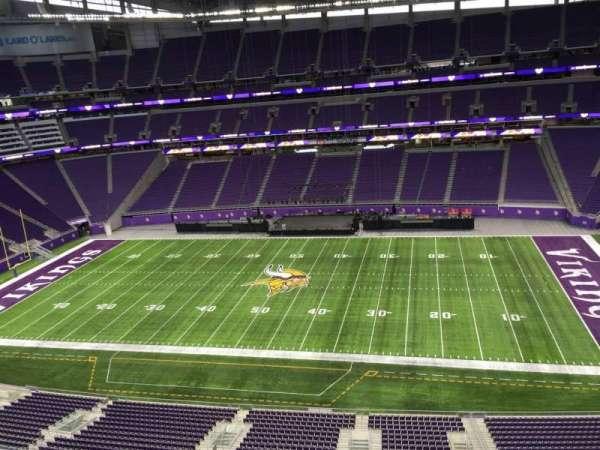 U.S. Bank Stadium, section: 339, row: B, seat: 20