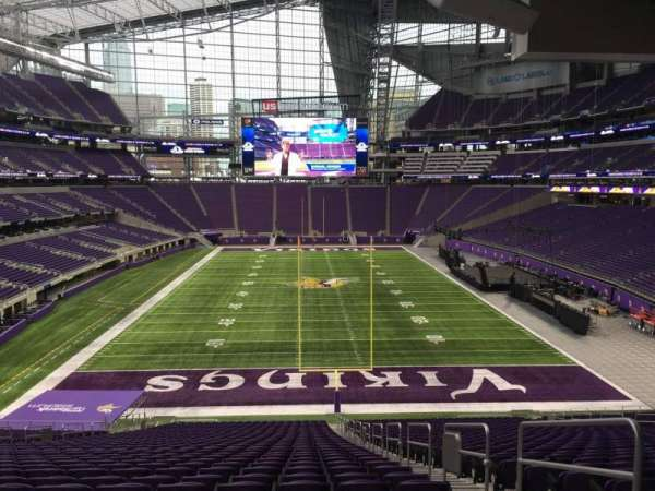 U.S. Bank Stadium, section: 120, row: 42, seat: 3