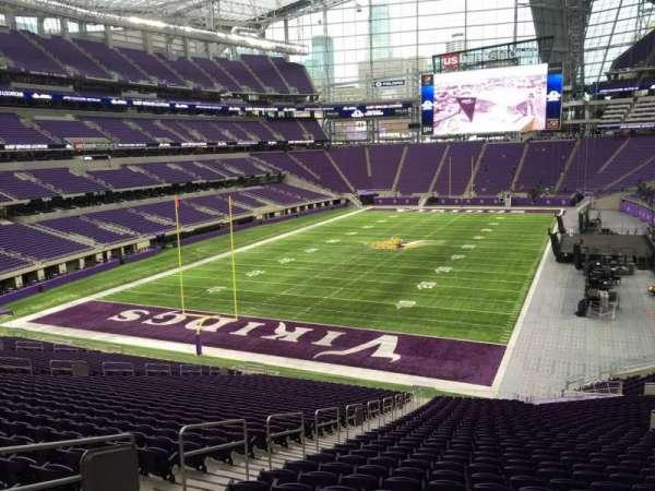 U.S. Bank Stadium, section: 116, row: 39, seat: 49