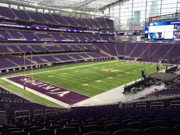 U.S. Bank Stadium, section: 114, row: Acc